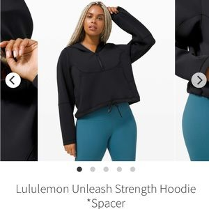 Lululemon Unleash Strength Hoodie *Spacer Black